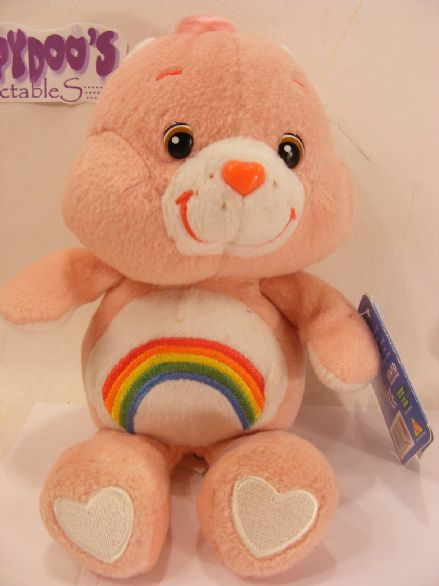 "BNWT 8"" CHEER CAREBEAR BEANIE CARE BEARS"